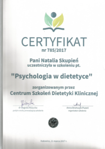 Psychodietetyk Natalia Bugla