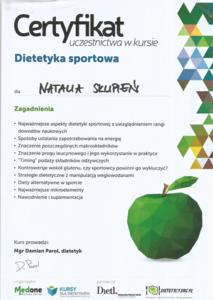 Dieta dla sportowca - dietetyk Natalia Bugla